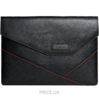 """Фото Issa Hara Leather Case for MacBook 13"""" Black/Red (MC13_11k)"""