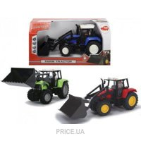 Фото Dickie Toys Трактор с фигуркой человека, 25 см (3735002)