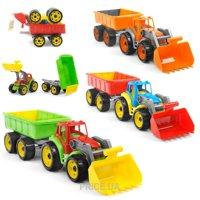 Фото ТехноК Трактор с ковшом и прицепом (3688)