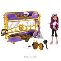 Фото Mattel Monster High Клодин Вульф с кроватью из серии вечеринка (W2577)