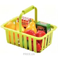 Фото Ecoiffier Корзина для супермаркета с продуктами (981)
