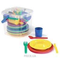Фото Viking Toys Ведёрко с посудой на 8 персон (41408)