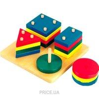 Фото Мир деревянных игрушек Логический квадрат (Д020)