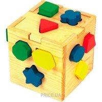 Фото Мир деревянных игрушек Логический кубик (Д014)