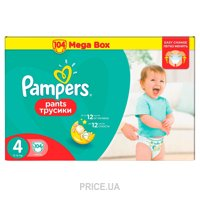 Фото Pampers Pants Maxi 4 (104 шт.)