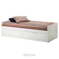 Фото IKEA BRIMNES Каркас кушетки 80/160x200 с 2 ящиками (002.287.05)