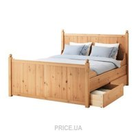 Фото IKEA HURDAL Каркас с ящиками 160x200 и SULTAN LUROY основа под матрас (290.272.78)