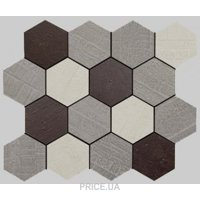 Фото Apavisa Outdoor policromatico natural mosaico hexagonal 30x25