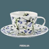 Фото Dunoon Dovedale harebell чашка чайная с блюдцем 200мл (19011)