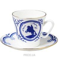Фото Императорский фарфор Чашка с блюдцем кофейная Черный кофе 81.14809.00.1
