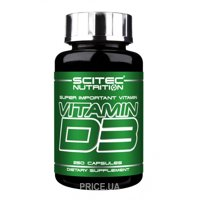 Фото Scitec Nutrition Vitamin D3 250 caps