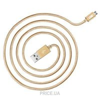 Фото JUST Copper Micro USB Cable 2M Gold (MCR-CPR2-GLD)