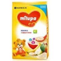 Фото Milupa Каша молочная манная с фруктами, 210 г
