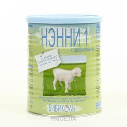 Фото Бибиколь Молочная смесь Нэнни 1 с пребиотиками, 0-6 мес. 400 г