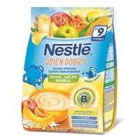 Фото Nestle Каша молочная Рисово-кукурузная с яблоком, бананом и абрикосом, 230 г