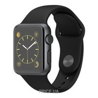 Фото Apple Watch 38mm Space Gray Aluminum Case with Black Sport Band (MJ2X2)