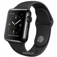 Фото Apple Watch 38mm Space Black Stainless Steel Case with Black Sport Band (MLCK2)