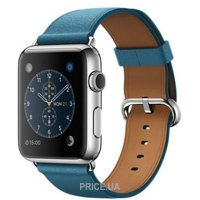 Фото Apple Watch 42mm Stainless Steel Case with Marine Blue Classic Buckle (MMFU2)