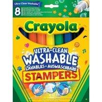 Фото Crayola Легкосмываемые фломастеры-штампы , 8 шт (58-8129)