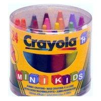 Фото Crayola 24 восковых мелка для самых маленьких в бочонке (0784)