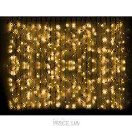 Фото Delux Curtain 1520 LED 2x7m желтый/черный IP44 (10008238)