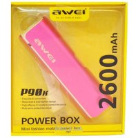 Фото Awei Power Bank P90k 2600 mAh Pink