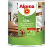 Фото ALPINA Лак Alpina Aqua Mobel шелковисто-матовый 0.
