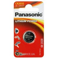 Panasonic CR-2032 bat(3B) Lithium 1шт (CR-2032EL/1B)