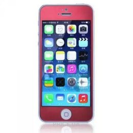 Remax Tempered Glass Colorful Red Apple iPhone 5S/5/5C 0.2mm