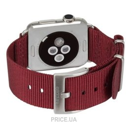Фото Incase Nylon Nato Band Apple Watch 42mm - Deep Red (INAW10014-DRD)