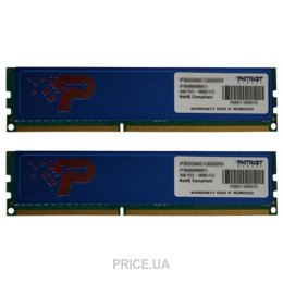 Фото Patriot 8GB (2x4GB) DDR3 1600MHz (PSD38G1600KH)