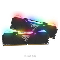 Фото Patriot 16GB (2x8GB) DDR4 3200MHz Viper RGB Black (PVR416G320C6K)