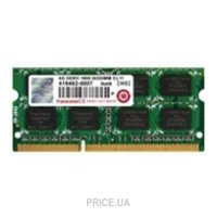 Фото Transcend 4GB SO-DIMM DDR3 1600MHz (JM1600KSH-4G)