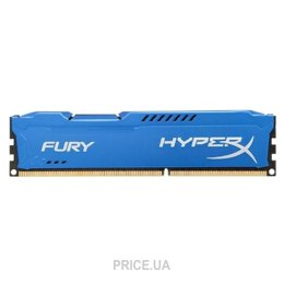Фото Kingston 16GB (2x8GB) DDR3 1866MHz HyperX FURY (HX318C10FK2/16)
