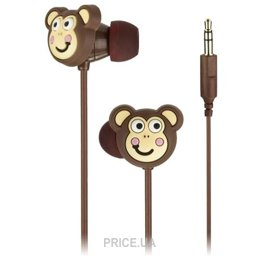 Наушник Наушники KitSound Doodles In-Ear Monkey (DDMKYBUD)