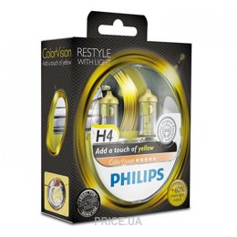 Фото Philips H4 ColorVision Yellow (12342CVPYS2)