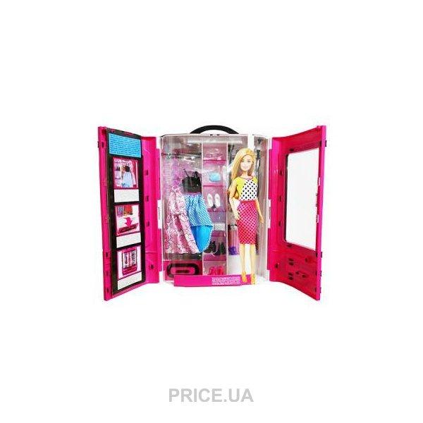 Mattel модный шкаф для барби с одеждой Dmt57 купить в украине