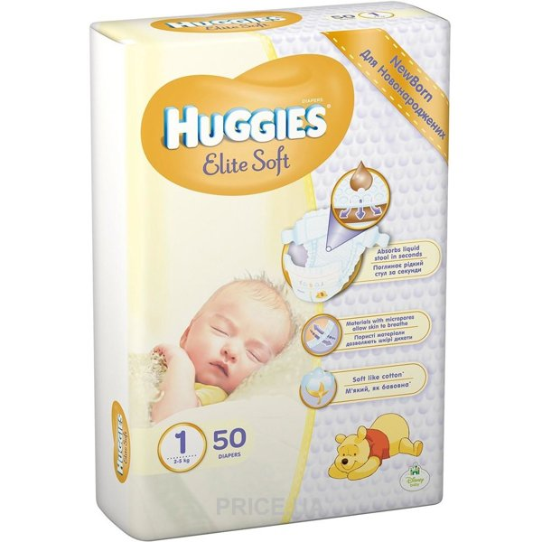 614cd6fdb019 Huggies Elite Soft 1 (50 шт.)  Купить в Украине - Сравнить цены на ...
