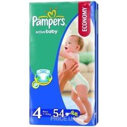 Подгузник Pampers Active Baby Maxi 4 (54 шт.) Тип - Подгузники 3fdf2763edd
