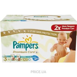 Фото Pampers Premium Care Midi 3 (120 шт.)