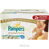 Pampers Premium Care Midi 3 (120 шт.)