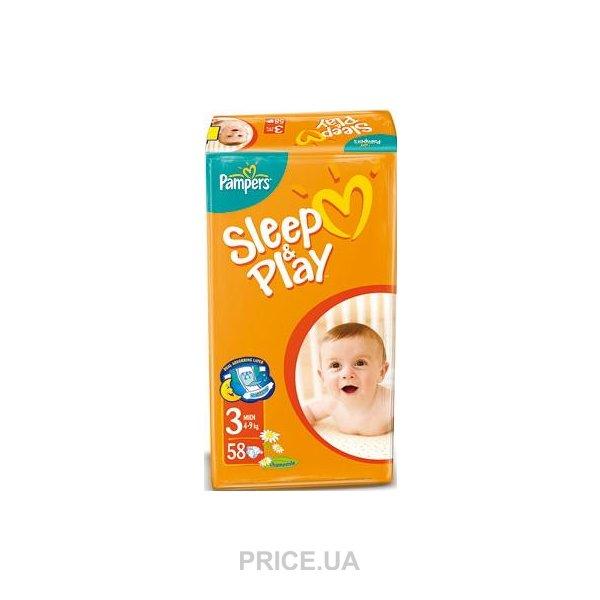 Pampers Sleep Play Midi 3 (58 шт.)  Купить в Мариуполе - Сравнить ... 18b67c81222