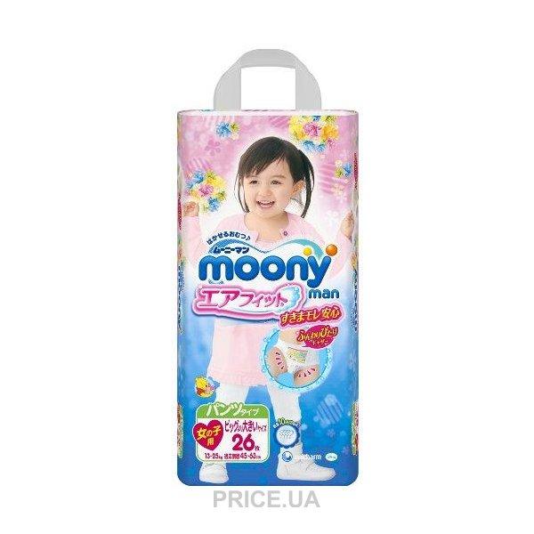 07f6bbf98af8 цены в Украине. 0.0. Moony Подгузники-трусики для девочек XXL 13-25 кг (26  шт.)