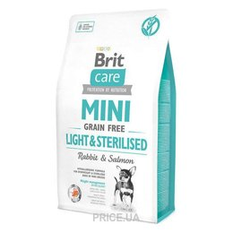 Фото Brit Care Mini Light & Sterilised Rabbit & Salmon 2 кг