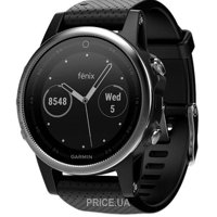 Фото Garmin Fenix 5S Silver with Black band (010-01685-02)