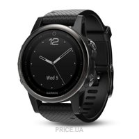 Фото Garmin Fenix 5S Sapphire Slate grey With Black Band (010-01685-11)