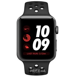 Apple Watch Series 3 Nike+ (GPS) 38mm Space Gray Aluminum w. Anthracite/BlackSport B. (MQKY2)