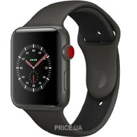 Фото Apple Watch Series 3 (GPS) 42mm Gray Ceramic w. Gray/Black Sport B. (MQKE2)