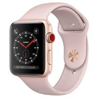 Фото Apple Watch Series 3 (GPS) 38mm Gold Aluminum Case w. Pink Sand Sport B. (MQJQ2)