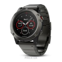 Фото Garmin Fenix 5X Sapphire Slate Gray With Metall Band (010-01733-03)